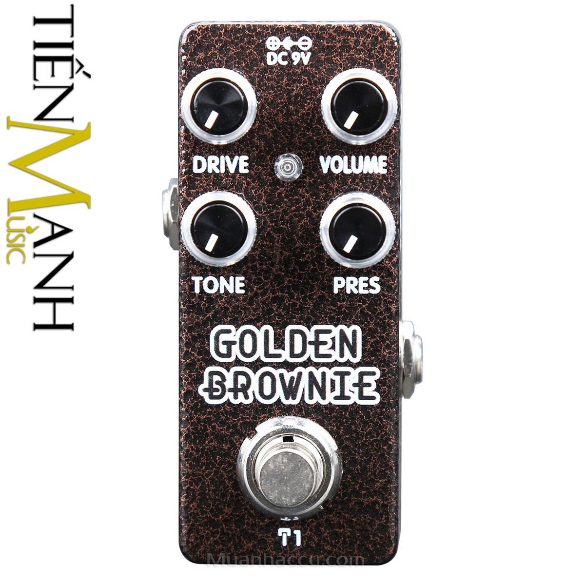 Phơ Guitar Xvive Analog Golden Brownie T1 (Nguồn chính hãng đi kèm - Bàn đạp Fuzz Pedals Effects)