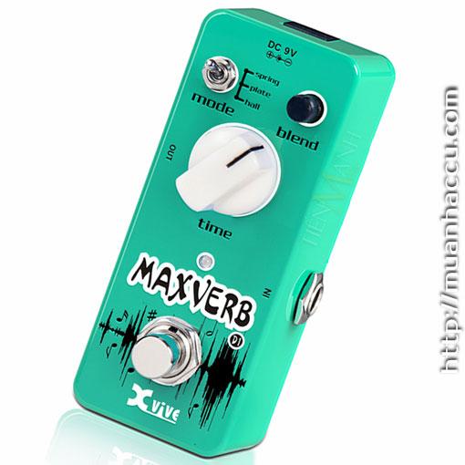 Phơ Guitar Xvive Digital Maxverb (Reverb) D1 (Nguồn chính hãng đi kèm - Bàn đạp Fuzz Pedals Effects)