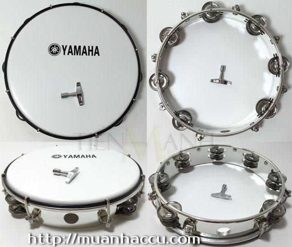 Trống lục lạc gõ bo Mạ Bạc - Tambourine MT6-102A (Mặt trắng sữa)