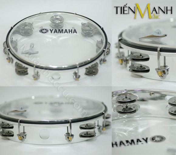 Trống lắc tay - Lục lạc gõ bo Inox Tambourine Yamaha MT6-102T (Trong)