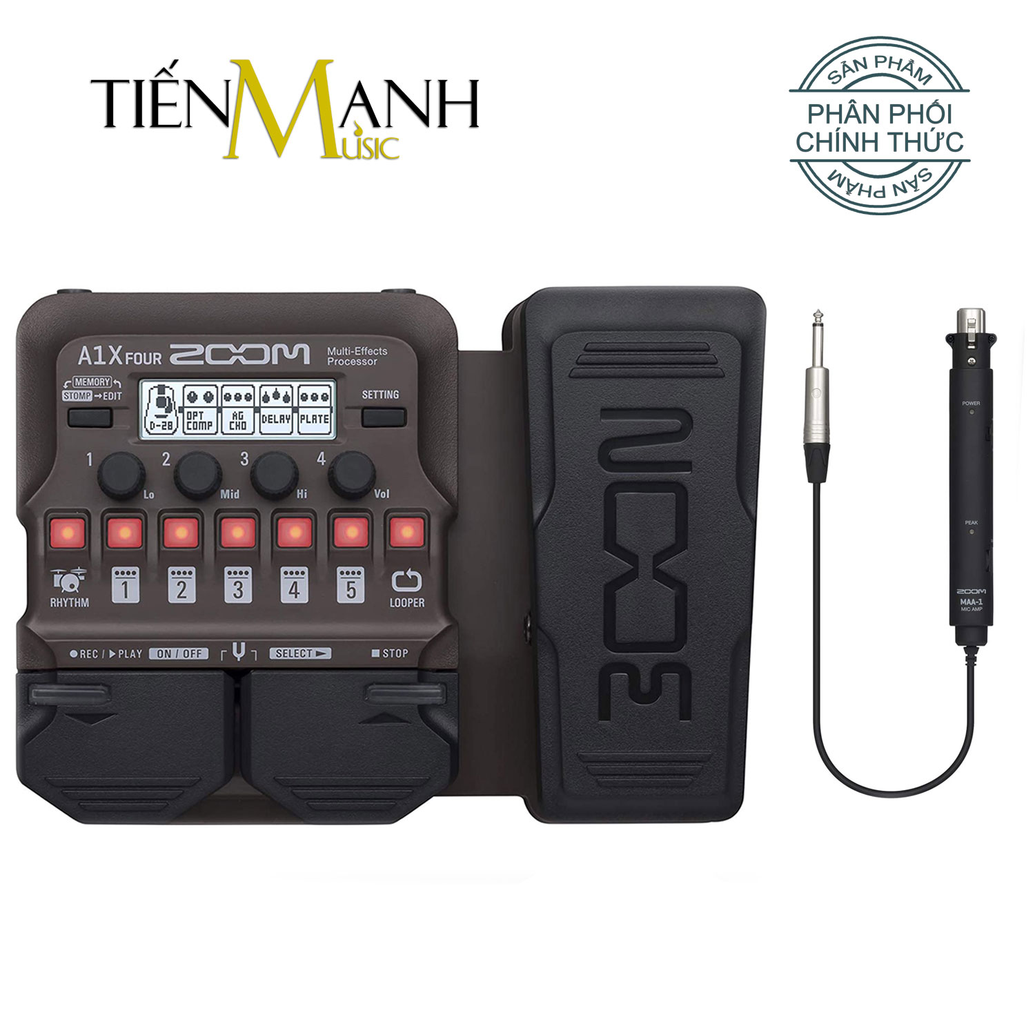 Zoom A1X Four - Phơ Acoustic Guitar Bàn đạp Multi-Effects Pedal