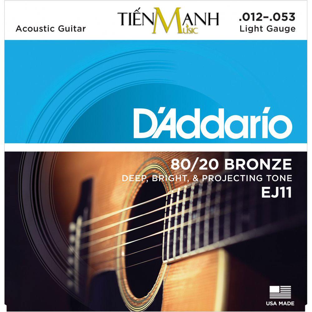 Dây Đàn Acoustic Guitar 80/20 Bronze DAddario EJ11