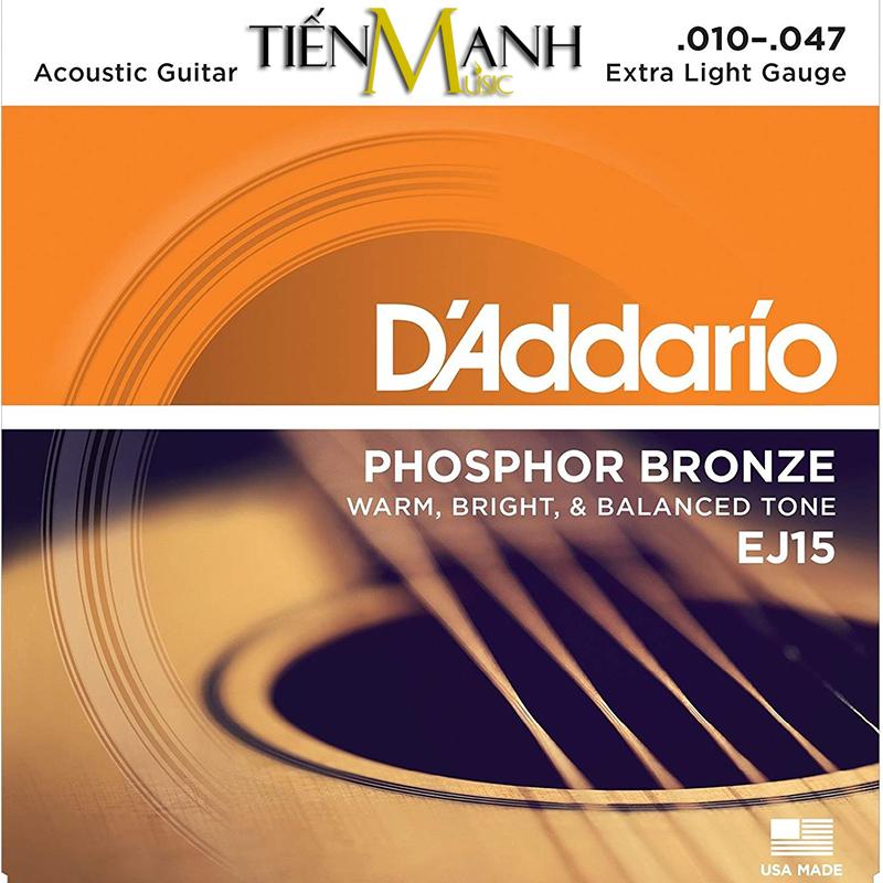 Dây Đàn Acoustic Guitar Phosphor Bronze DAddario EJ15