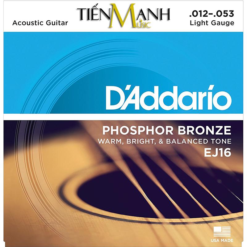 Dây Đàn Acoustic Guitar Phosphor Bronze DAddario EJ16