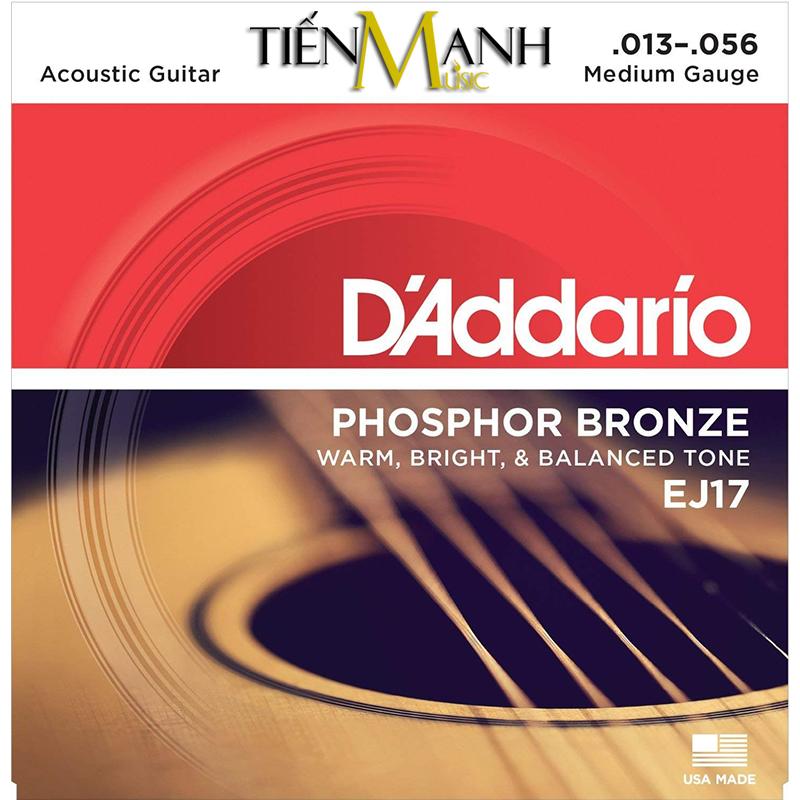 Dây Đàn Acoustic Guitar Phosphor Bronze DAddario EJ17