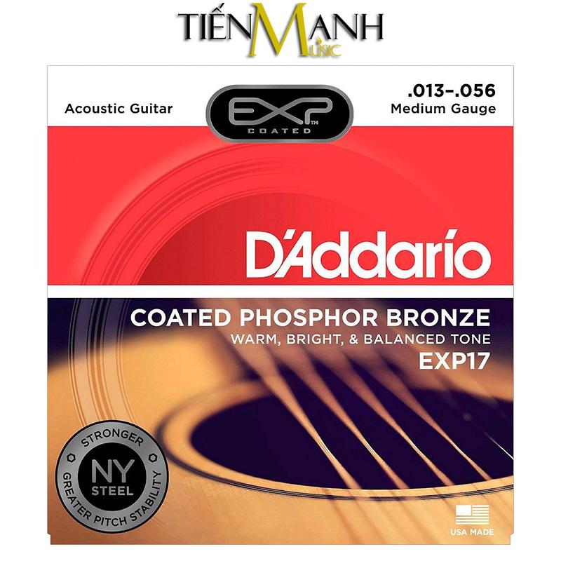 Dây Đàn Acoustic Guitar Coated Phosphor Bronze DAddario EXP17 (Có lớp phủ)