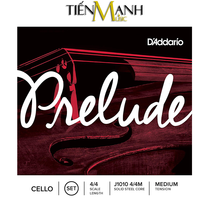 Dây Đàn Cello DAddario Prelude Medium Tension J1010 4/4M