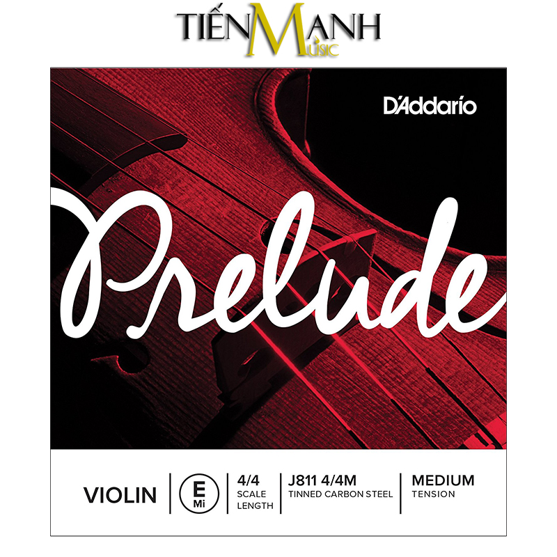 Dây lẻ - Đàn Violin DAddario Prelude Medium Tension J811 4/4M (Mi - E)
