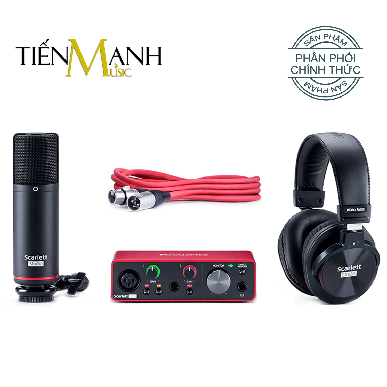 Focusrite Scarlett Solo Studio Pack Gen 3 Sound Card Âm Thanh - USB Audio Interface (Focus 3rd Generation - Gen3)