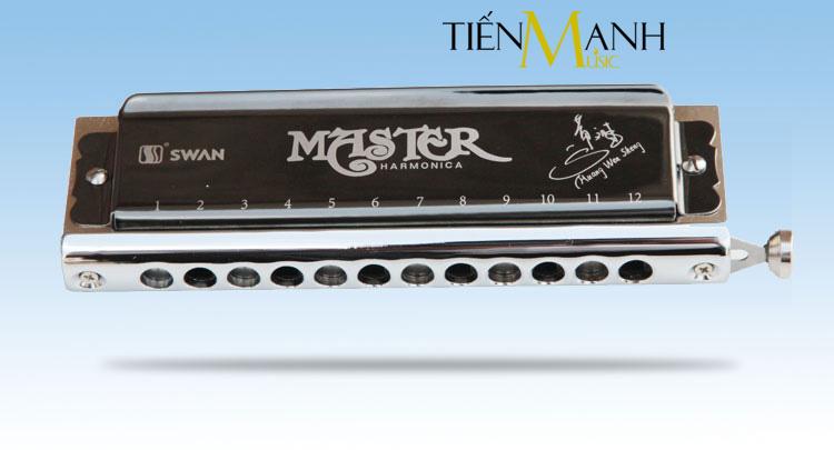 Kèn Harmonica Swan Chromatic Master SW1248H-BK - 12 lỗ
