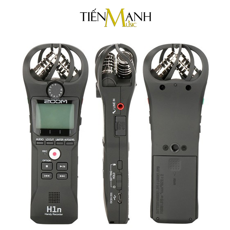 Máy Thu Ghi Âm Mic Zoom H1n - Thiết bị thu âm cầm tay kỹ thuật số Microphone Stereo