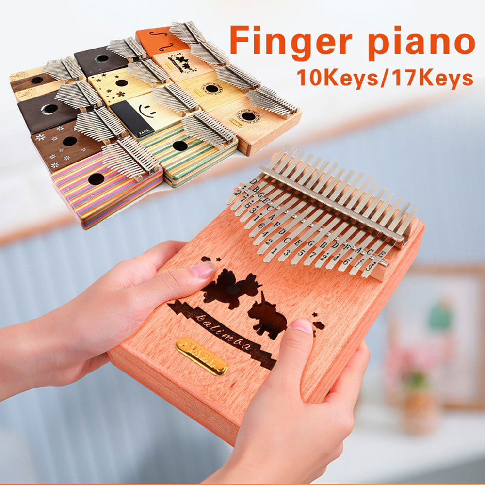 Đàn Kalimba Yael 17 Phím Gỗ Mahogany Y17M-W (Khảm bào ngư Cánh - Mbira Thumb Finger Piano 17 Keys)