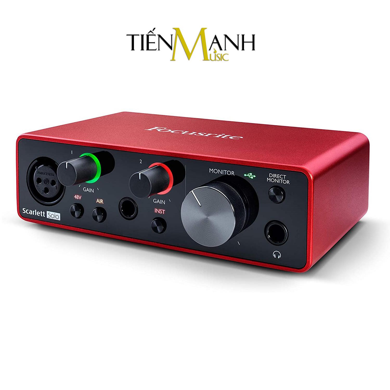 Focusrite Scarlett Solo Gen 3 Sound Card Âm Thanh - USB Audio Interface With Pro Tools (3rd Generation - Gen3)