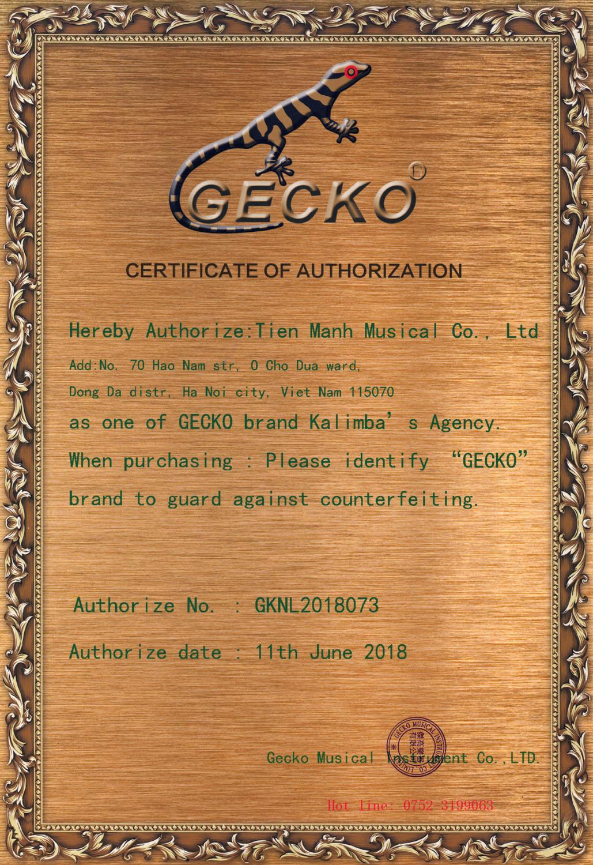 Đàn Kalimba Gecko 17 Phím K17BAEQ (Có EQ - Gỗ Trúc - Tone C hoặc B tùy chọn)