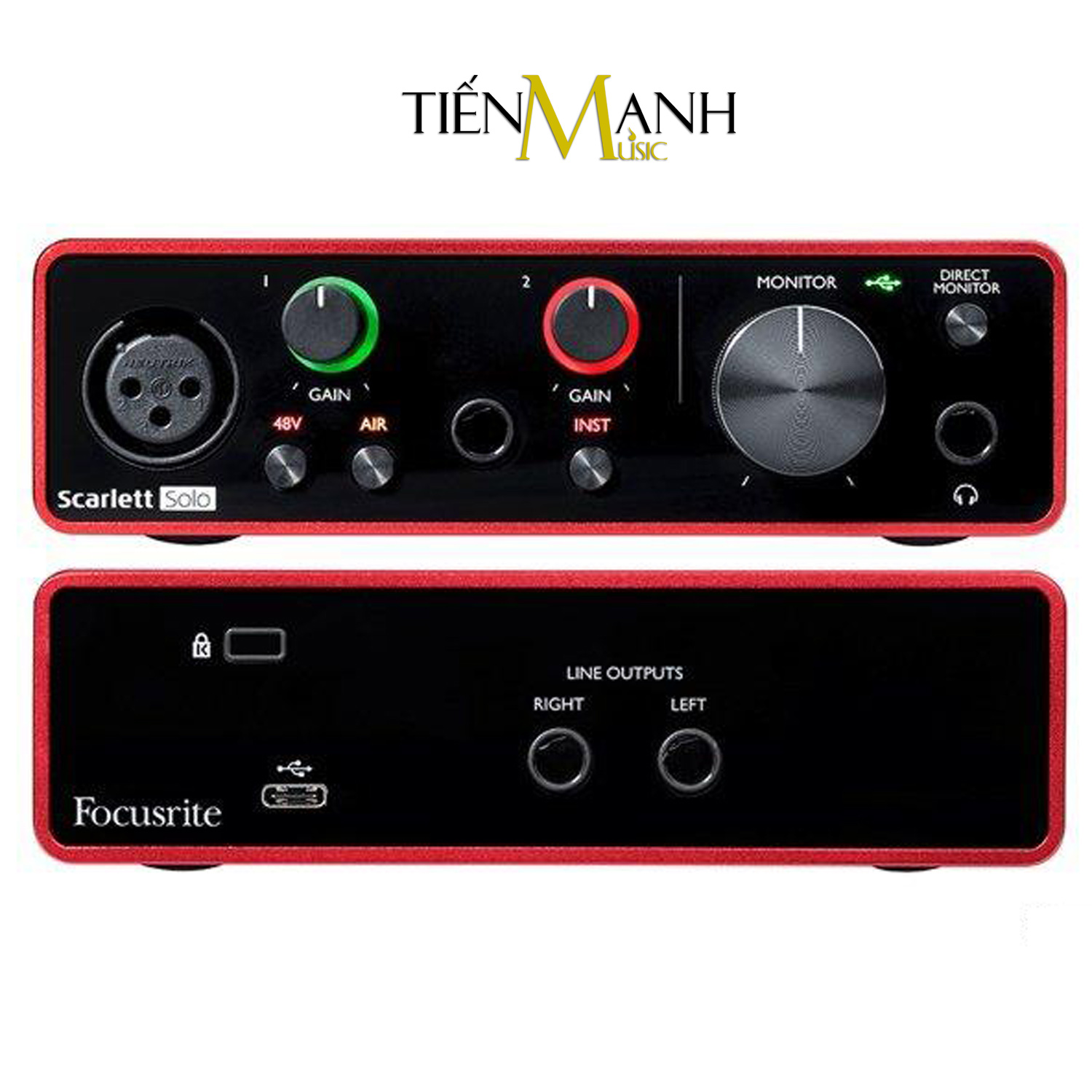 Focusrite Scarlett Solo Studio Pack Gen 3 Sound Card Âm Thanh - USB Audio Interface (Focus 3rd Generation - Gen3)