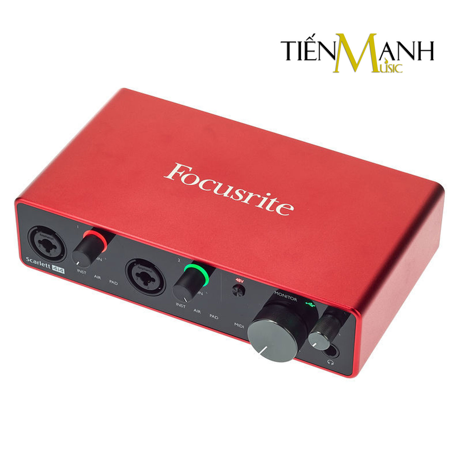 Focusrite Scarlett 4i4 Gen 3 Sound Card Âm Thanh - USB Audio Interface With Pro Tools (Focus 3rd Generation - Gen3)