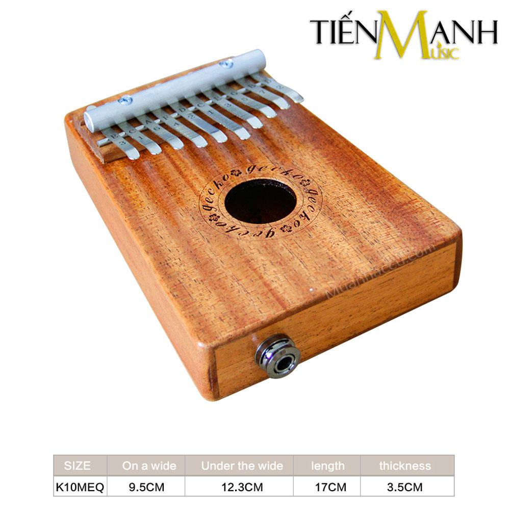 Đàn Kalimba Gecko 10 Phím K10MEQ (Có EQ - Gỗ Mahogany - Mbira Thumb Finger Piano 10 Keys)