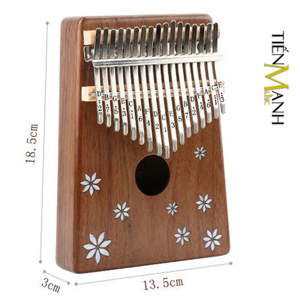 Đàn Kalimba Yael 17 Phím Gỗ Acacia Y17A (Khảm hoa - Mbira Thumb Finger Piano 17 Keys)