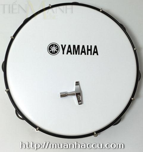 Trống lắc tay - Lục lạc gõ bo Inox Tambourine Yamaha MT6-102A (Trắng)