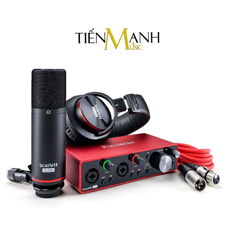 Focusrite Scarlett 2i2 Studio Gen 3 Sound Card Âm Thanh - USB Audio Interface (3rd Generation - Gen3)