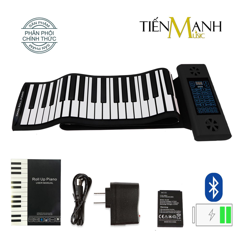 Đàn Piano 61 phím cuộn mềm dẻo Konix Flexible PS61 - Pin sạc 1700mAh