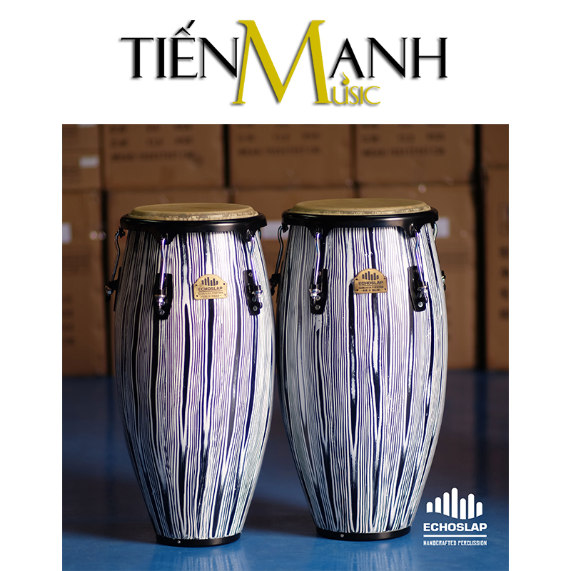 Trống Congas Echoslap CS1011-BW(BS)(Made In Thailand)