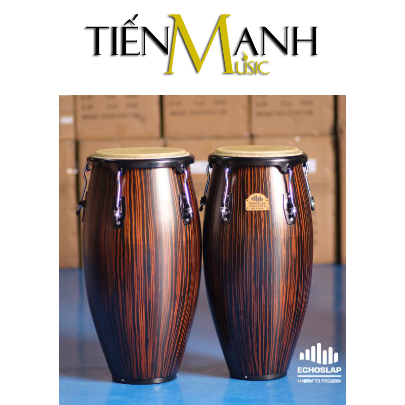 Trống Congas Echoslap CS1011-EB(BS)(Made In Thailand)