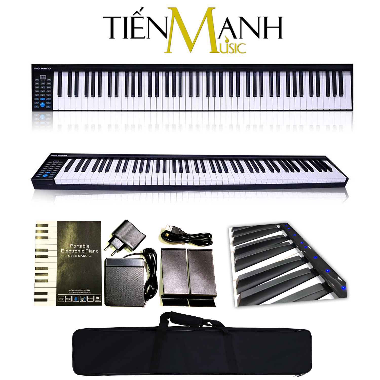 Đàn Piano Điện Konix 88 Phím nặng Cảm ứng lực PH88D - Phím có đèn Led - Touch response sensitive keyboard